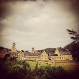 Abbey of Orval. Picture of the abbey of Orval in Belgium stock photography