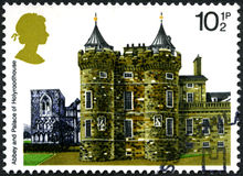 Abbey and Palace of Holyroodhouse UK Postage Stamp Royalty Free Stock Photography