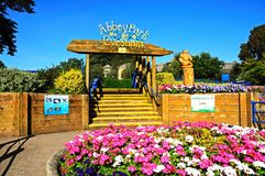 Abbey Park Entrance, Evesham. Stock Photo