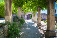 Abbey Provence France Arkivfoto