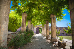 Abbey Provence France Arkivbilder