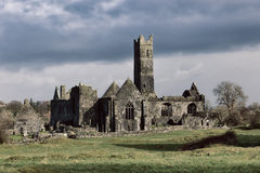 Abbey. Quin Abbey, County Clare, Ireland Royalty Free Stock Image