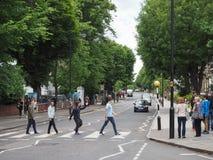 Abbey Road-Überfahrt in London Lizenzfreie Stockbilder