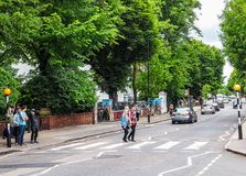 Abbey Road-Überfahrt in London (hdr) Stockfotos