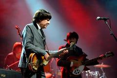 Abbey Road (Bandtribut zum Beatles) führt am goldenen Wiederbelebungs-Festival durch Stockbilder
