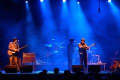 Abbey Road (Bandtribut zum Beatles) führt am goldenen Wiederbelebungs-Festival durch Stockfotos