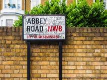 Abbey Road firma adentro Londres, hdr Imagen de archivo