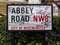 Abbey Road firma adentro Londres, hdr Fotografía de archivo