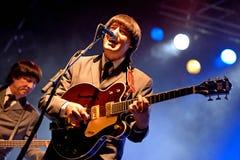 Abbey Road (hommage de bande au Beatles) exécute au festival d'or de renaissance Photo libre de droits