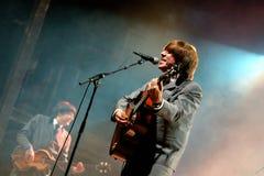 Abbey Road (hommage de bande au Beatles) exécute au festival d'or de renaissance Image libre de droits