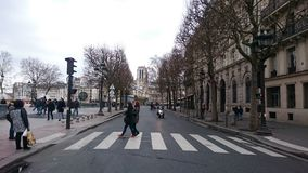 Abbey Road i paris Arkivbild