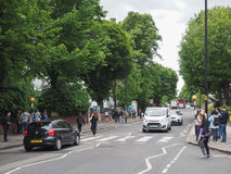 Abbey Road korsning i London Arkivbilder