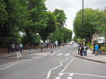 Abbey Road korsning i London Arkivbilder
