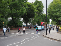 Abbey Road korsning i London Royaltyfria Bilder