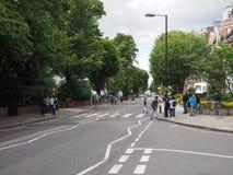 Abbey Road korsning i London Arkivfoto