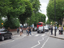 Abbey Road korsning i London Royaltyfri Fotografi
