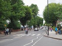 Abbey Road korsning i London Royaltyfria Bilder