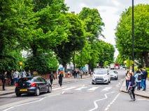 Abbey Road korsning i London (hdr) Arkivbilder