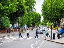 Abbey Road korsning i London, hdr Royaltyfria Bilder