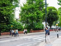 Abbey Road korsning i London, hdr Royaltyfria Foton
