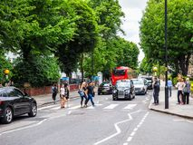 Abbey Road korsning i London, hdr Arkivbilder