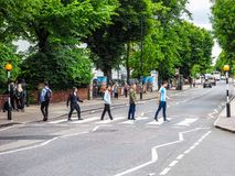 Abbey Road korsning i London, hdr Royaltyfri Bild