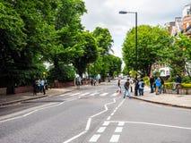 Abbey Road korsning i London, hdr Arkivfoto