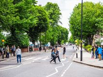 Abbey Road korsning i London, hdr Royaltyfri Foto