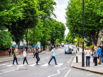 Abbey Road korsning i London (hdr) Royaltyfri Fotografi