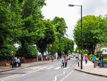 Abbey Road korsning i London (hdr) Fotografering för Bildbyråer