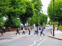 Abbey Road korsning i London (hdr) Royaltyfria Bilder