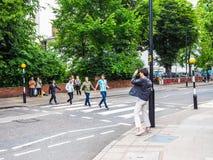 Abbey Road korsning i London (hdr) Royaltyfri Fotografi
