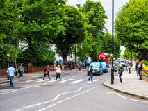 Abbey Road korsning i London (hdr) Royaltyfri Foto