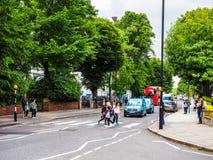 Abbey Road korsning i London (hdr) Arkivbild