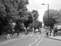 Abbey Road korsning i svartvita London Fotografering för Bildbyråer