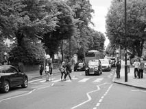Abbey Road korsning i svartvita London Royaltyfria Bilder