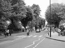 Abbey Road korsning i svartvita London Royaltyfri Foto
