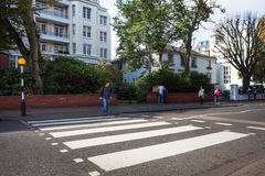 Abbey Road London Arkivfoton