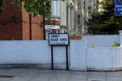 Abbey Road, London, Großbritannien Stockbild