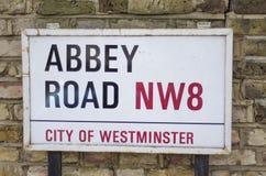 Abbey Road, Londres Fotografía de archivo libre de regalías