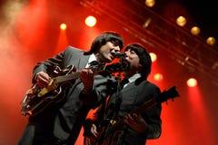 Abbey Road (musikbandhedersgåva till Beatleset) Arkivfoton