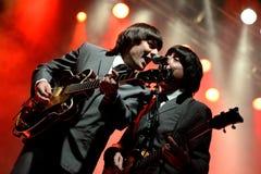 Abbey Road (musikbandhedersgåva till Beatleset) utför på den guld- nypremiärfestivalen Royaltyfria Bilder