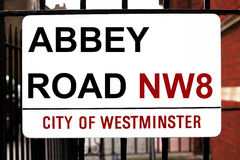 Abbey Road sign Royalty Free Stock Image