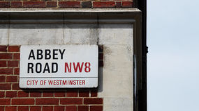 Abbey Road. A sign for Abbey Road just outside Abbey Road studios Royalty Free Stock Image
