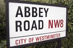 Abbey Road Sign, London Stock Image