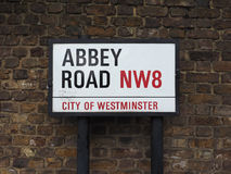 Abbey Road sign in London Royalty Free Stock Photos
