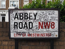 Abbey Road sign in London Royalty Free Stock Photography