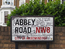 Abbey Road sign in London Royalty Free Stock Photo
