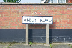 Abbey Road sign Stock Image
