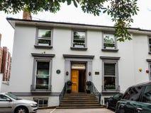 Abbey Road studior i London (hdr) Arkivfoto